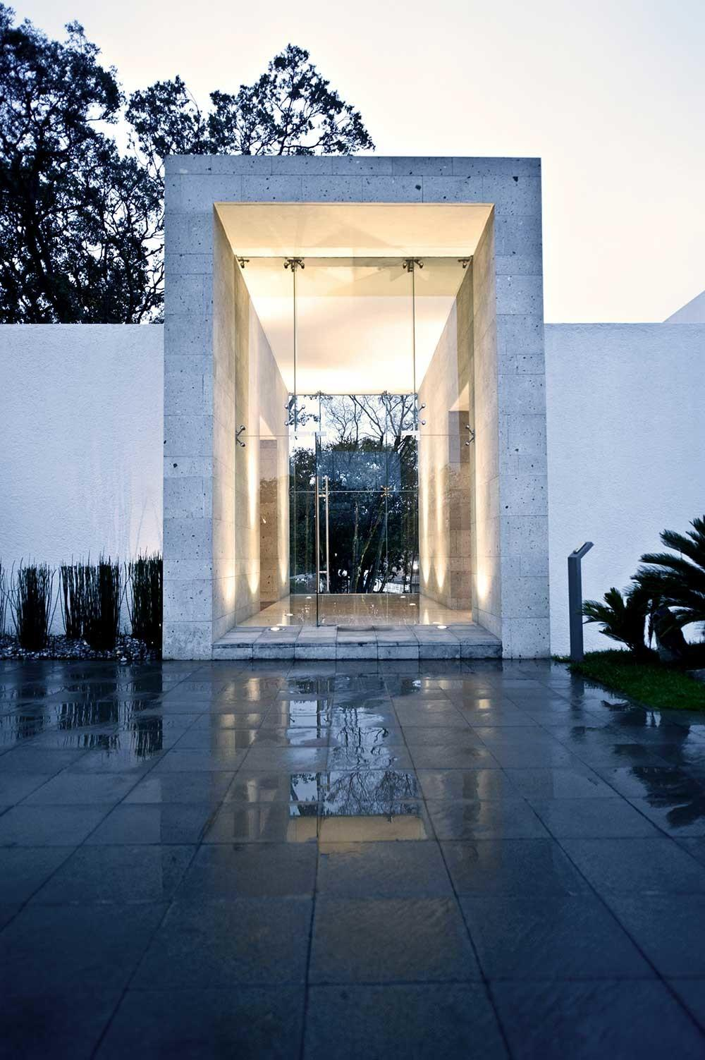Glass Entrance Sophisticated Three Story Home Mexico
