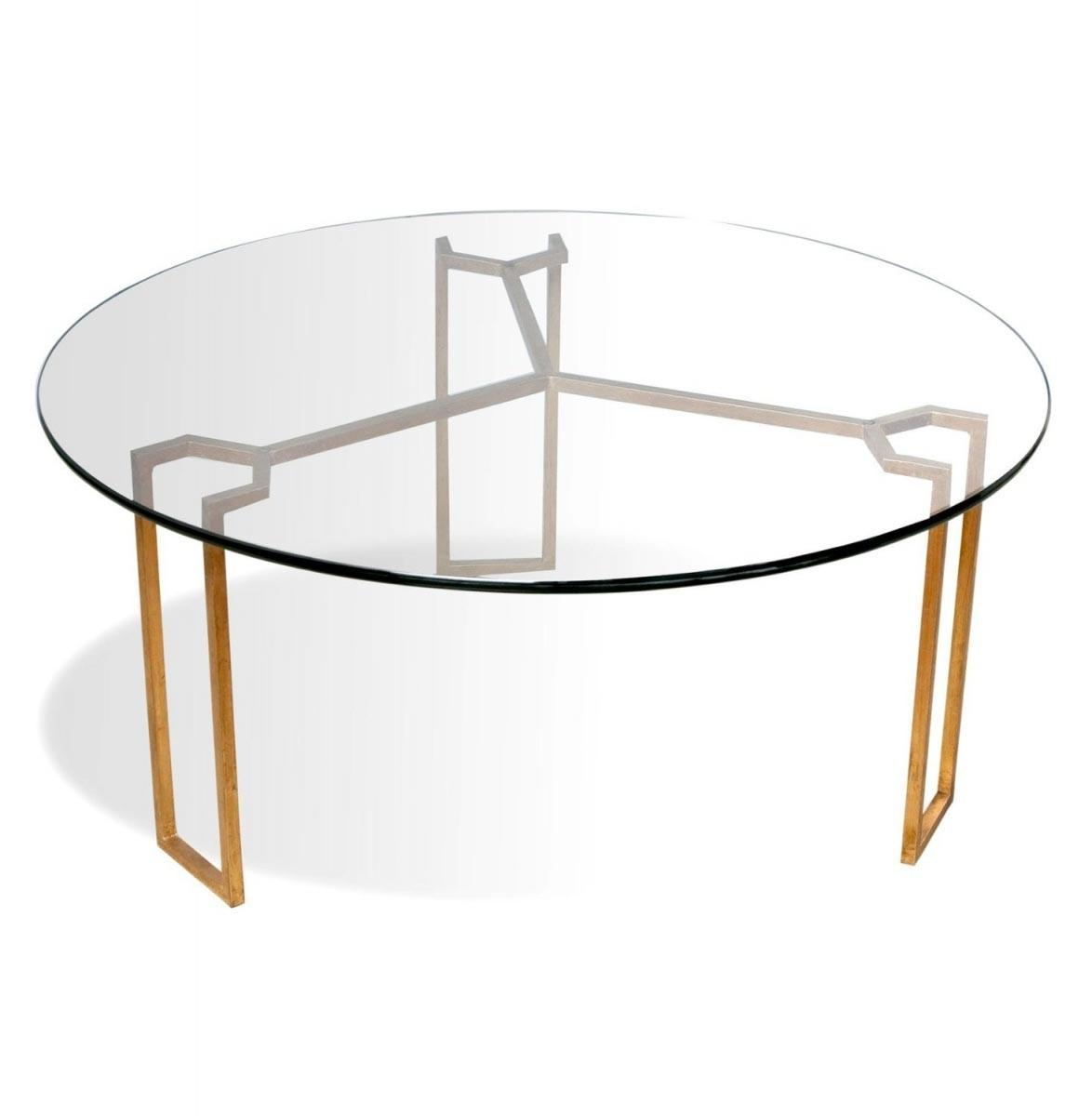 Glass Gold Coffee Table Design Ideas