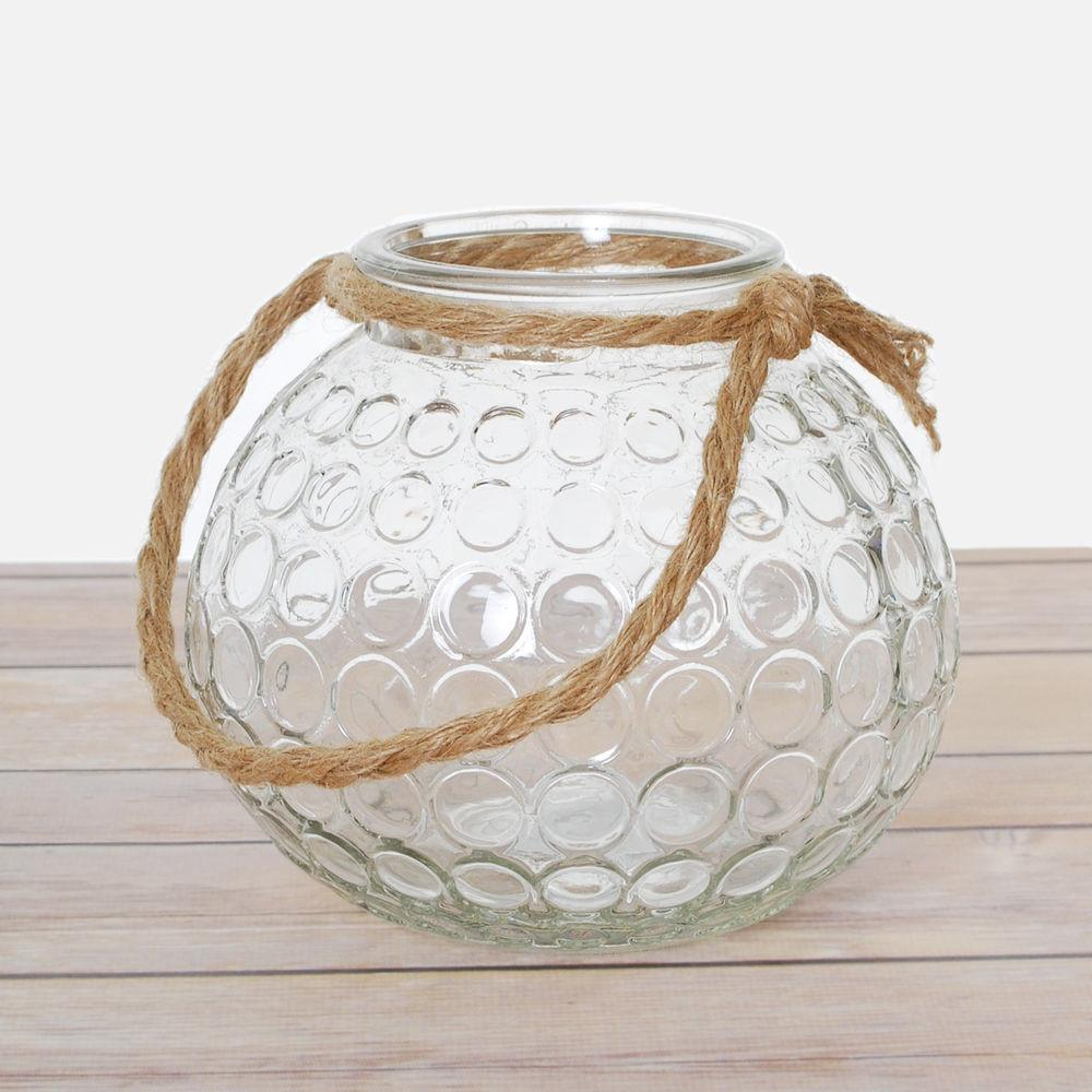 Glass Jar Bowl Candle Tealight Holder Globe Lantern Vase