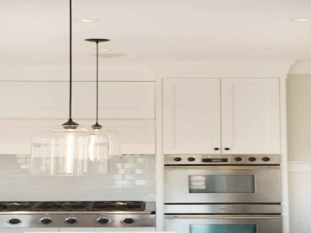 Glass Kitchen Island Clear Pendant