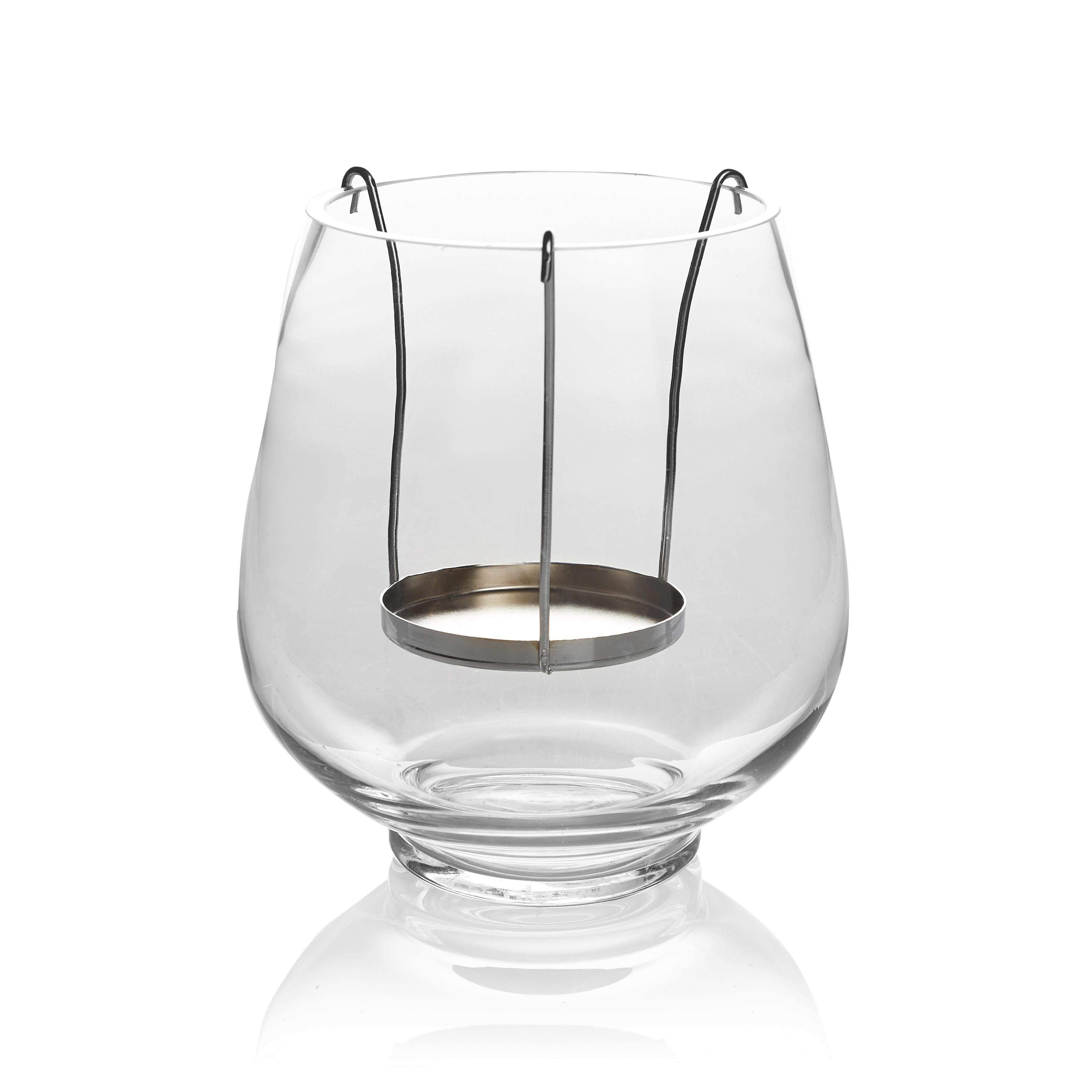 Glass Metal Floating Candle Holder Medium Departments
