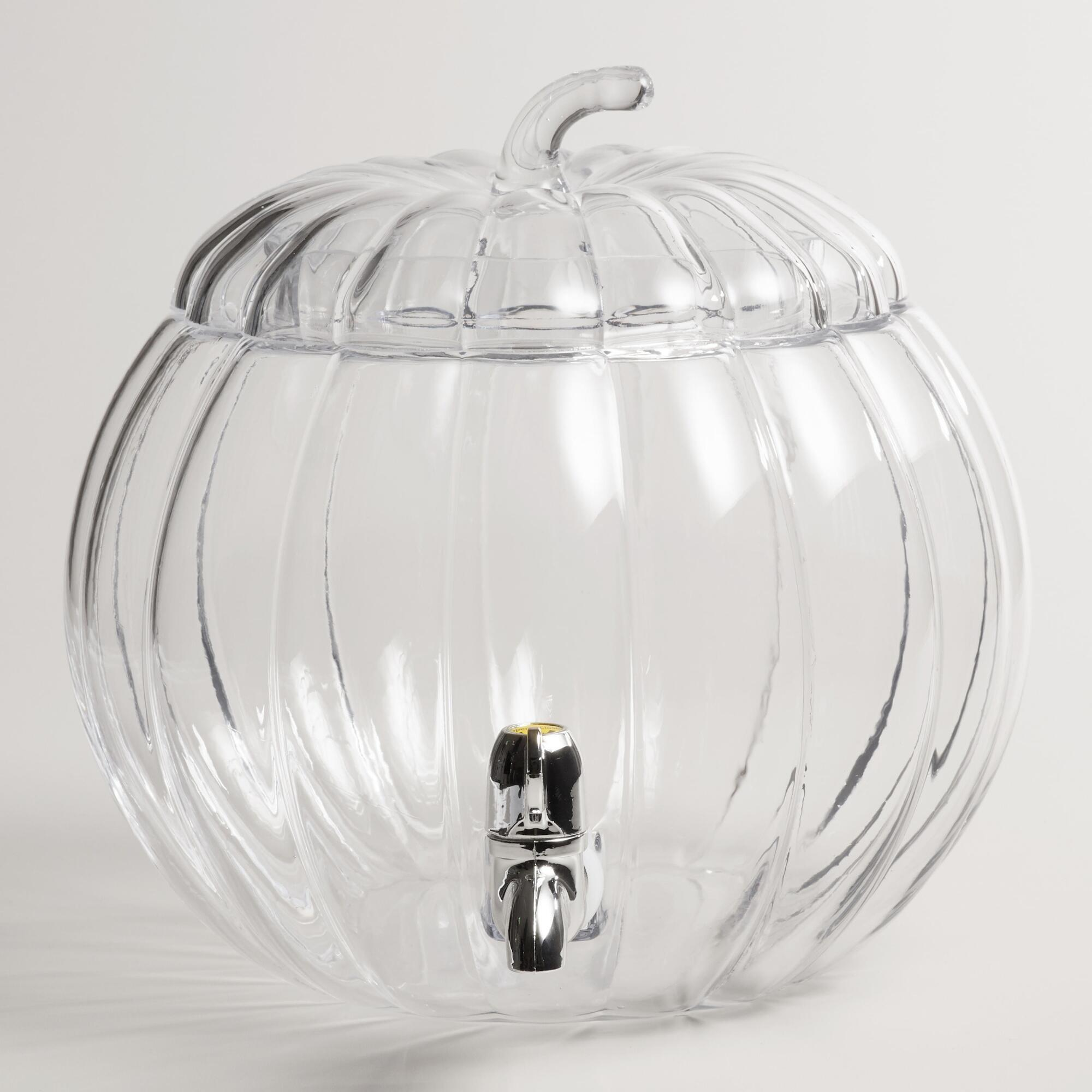 Glass Pumpkin Drink Dispenser World Market