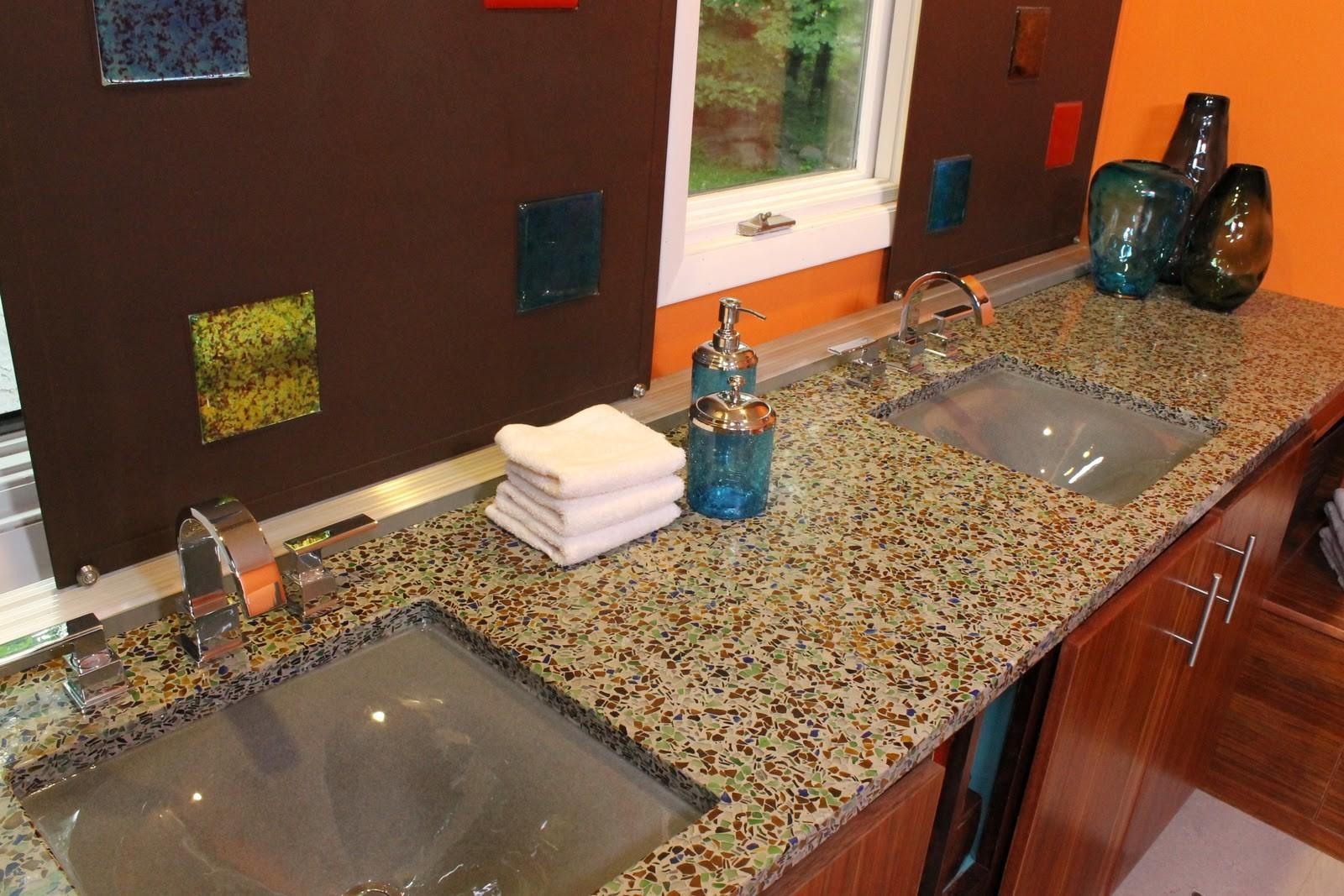 Glass Recycled Diy Bathroom Surfaces