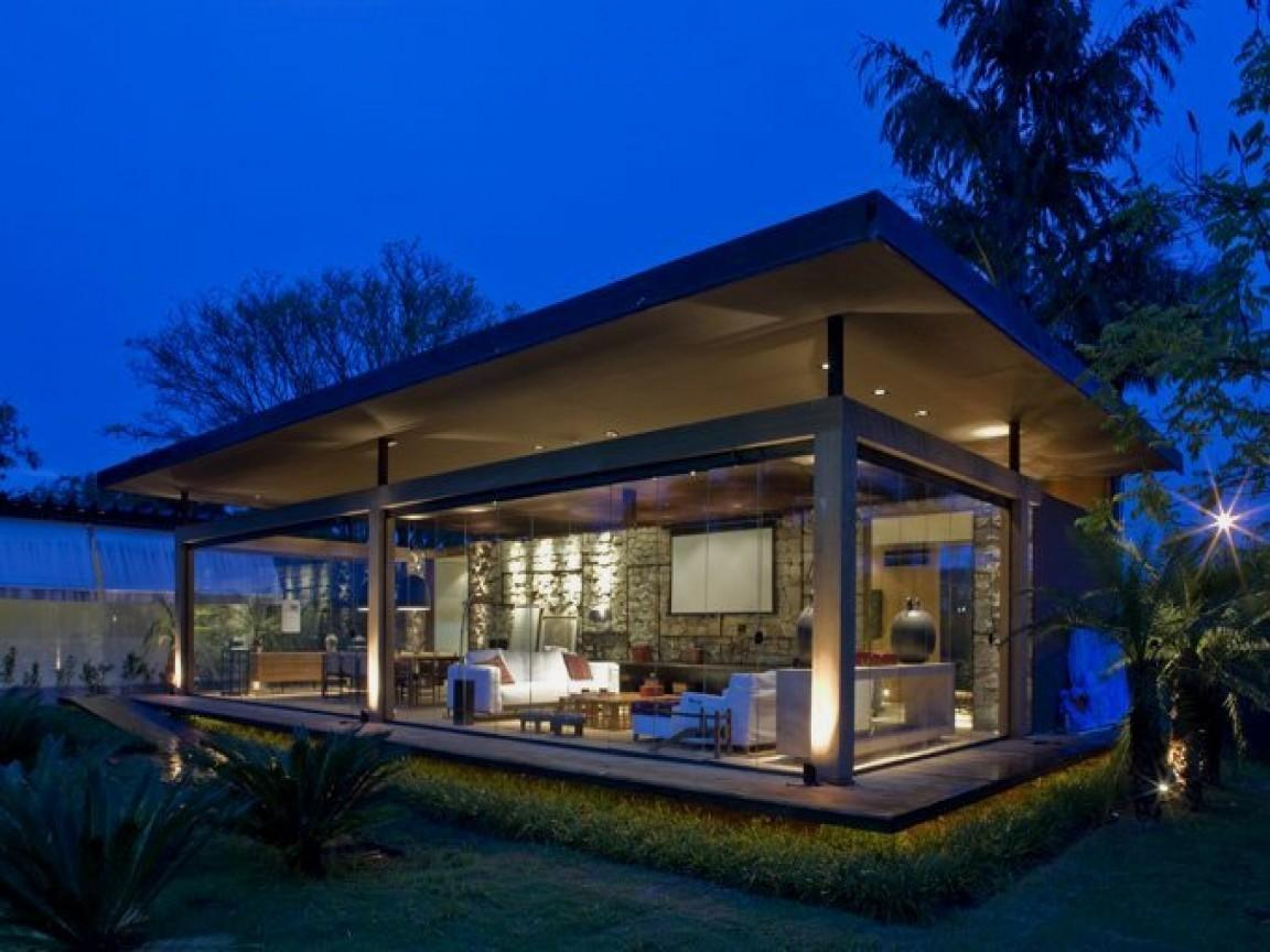 Glass Wall House Plan Home Design Style