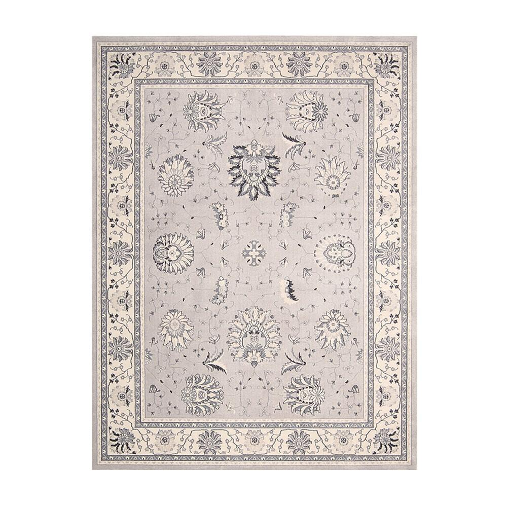 Glasswells Maymana Decor Silver Rug Patterned Rugs