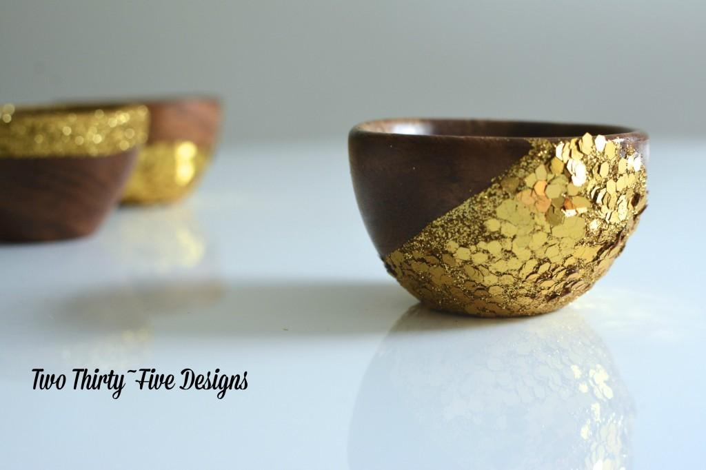 Glitter Dipped Bowls Two Thirty Five Designs