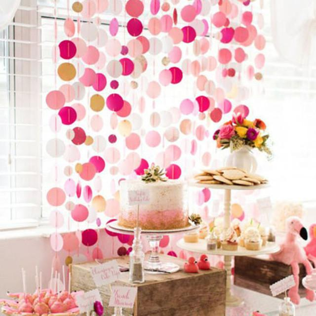 Glitter Paper Birthday Party Hanging Bunting Banner Flag