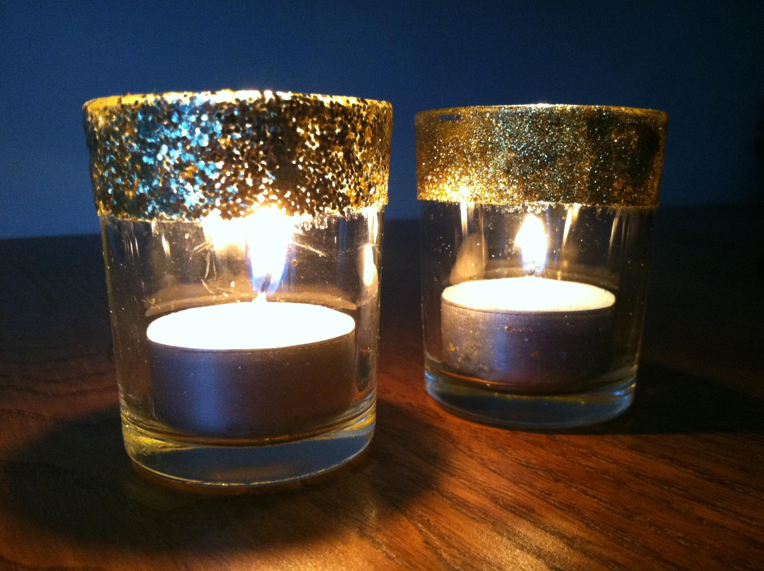 Glitter Votive Candle Holders Crafting Cooking