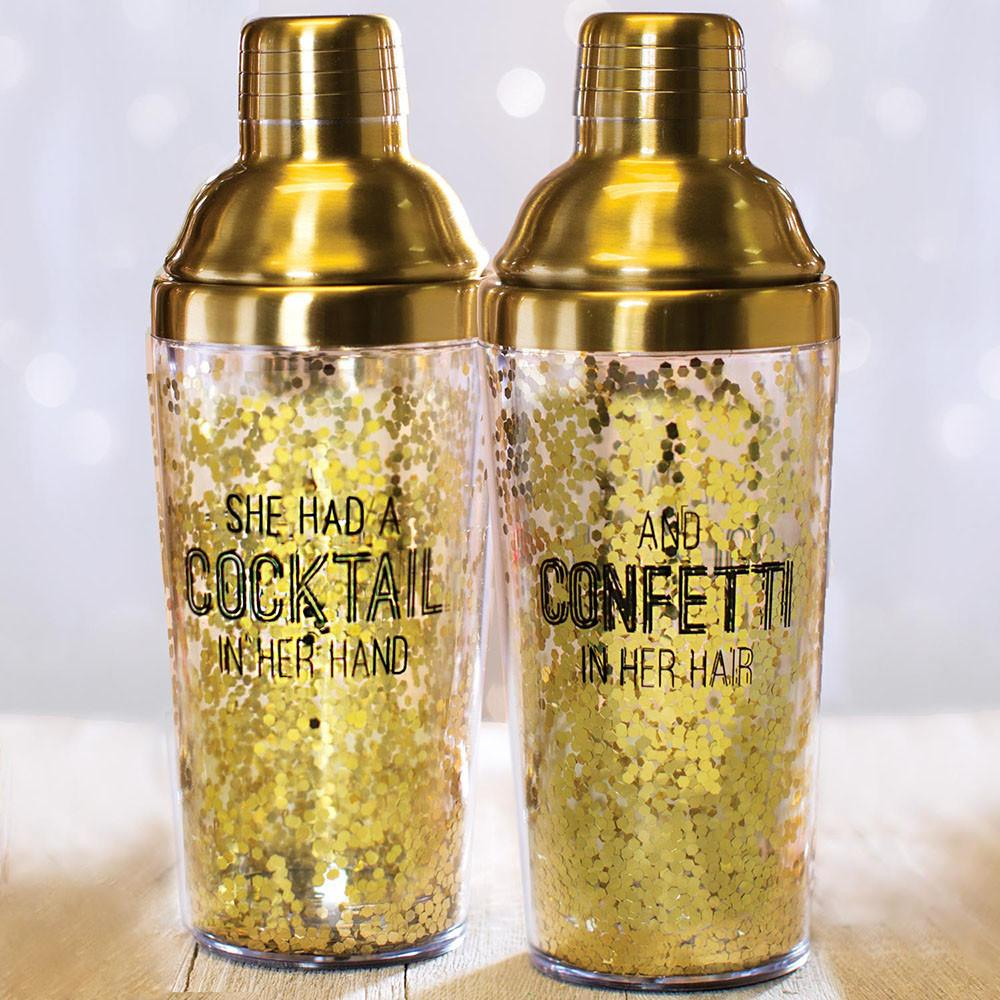 Glitzy Holiday Barware