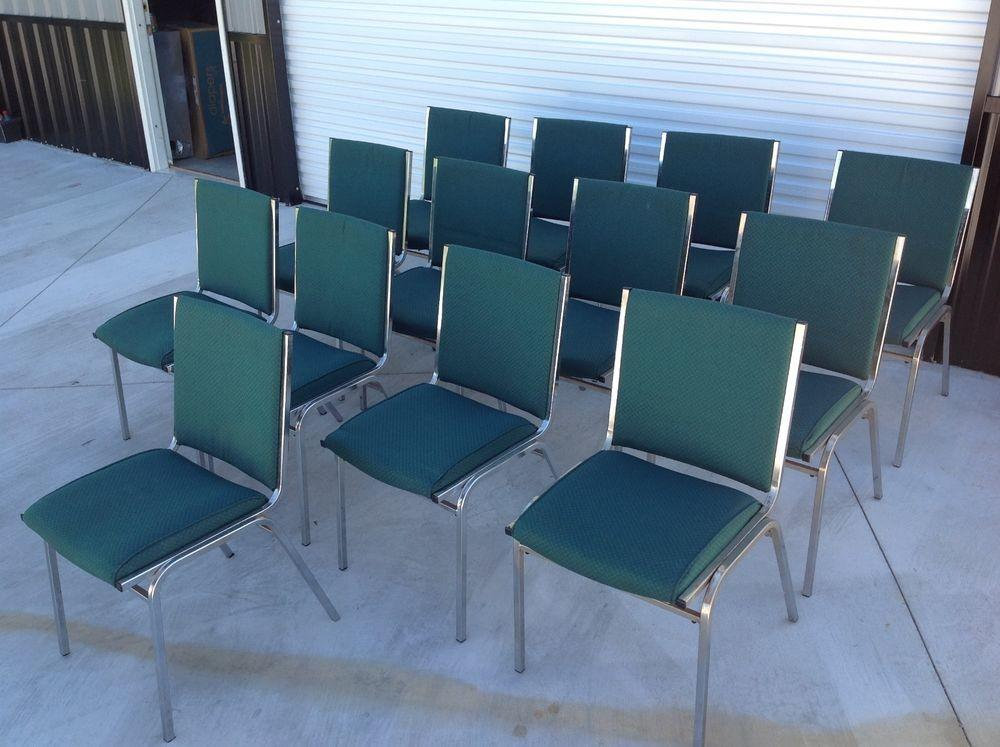 Global Upholstery Metal Cloth Office Waiting Room Chairs