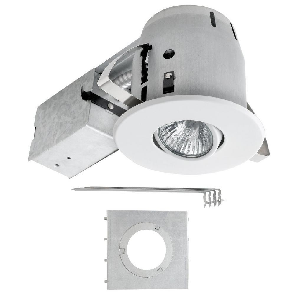 Globe Electric White Recessed Lighting Kit New