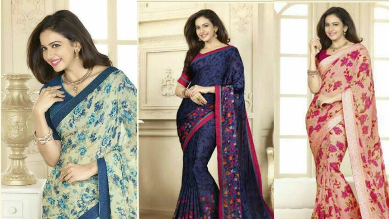 Glossy Designer Sarees Collections Latest