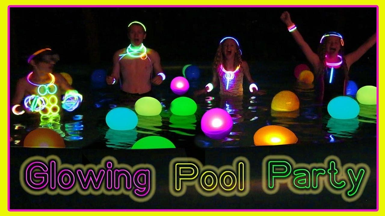 Glow Dark End Summer Pool Party