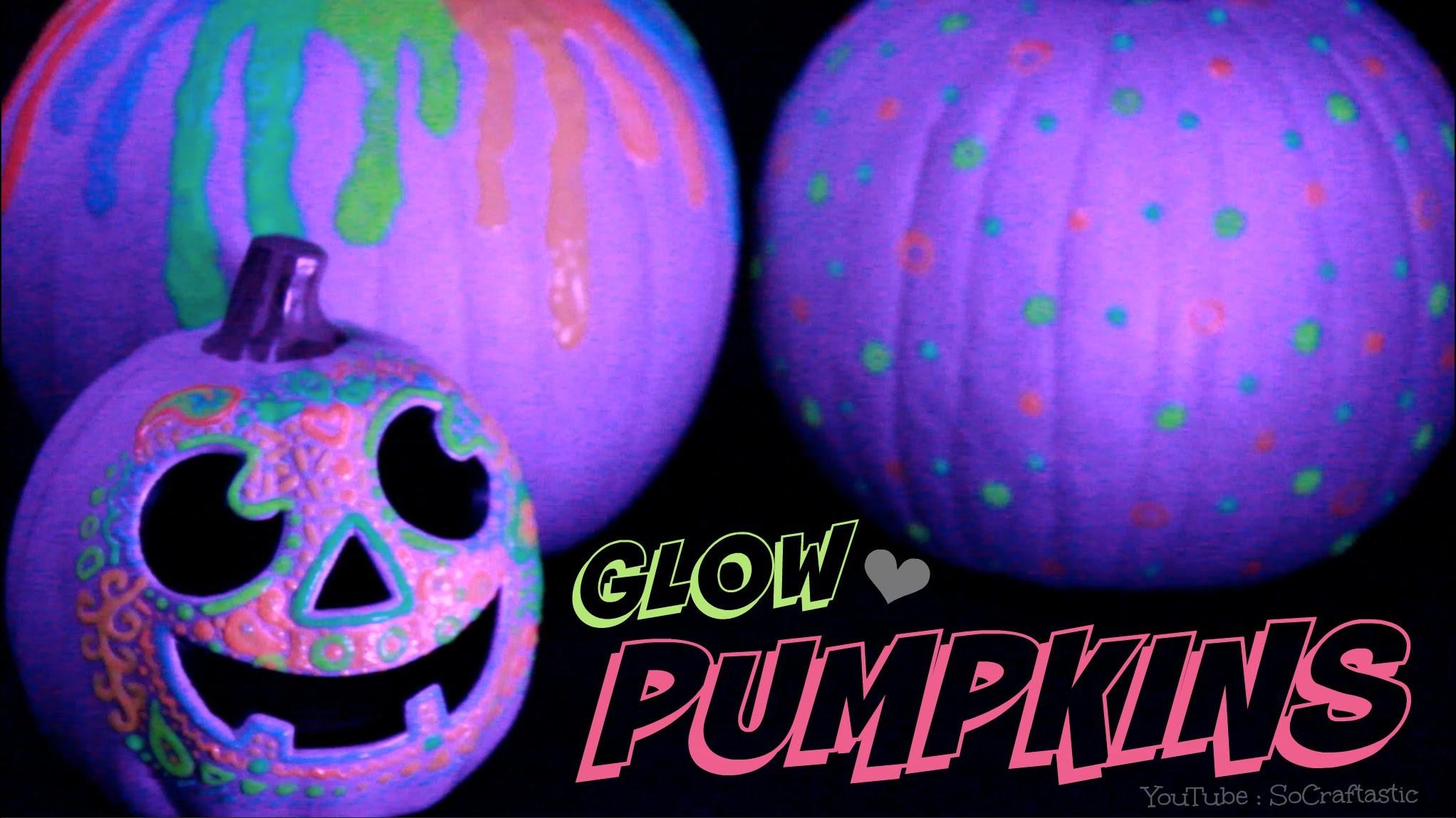 Glow Dark Pumpkin Halloween Diy Easy Carve