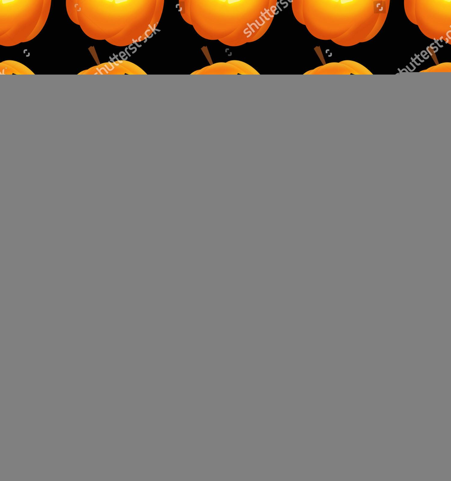 Glowing Halloween Pumpkins Scary Faces Stock