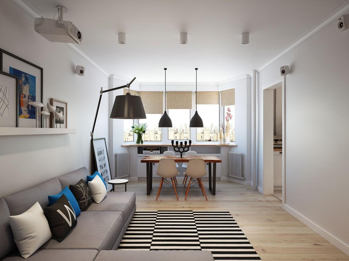 Going Scandinavian Style Space Savvy Apartment Moscow