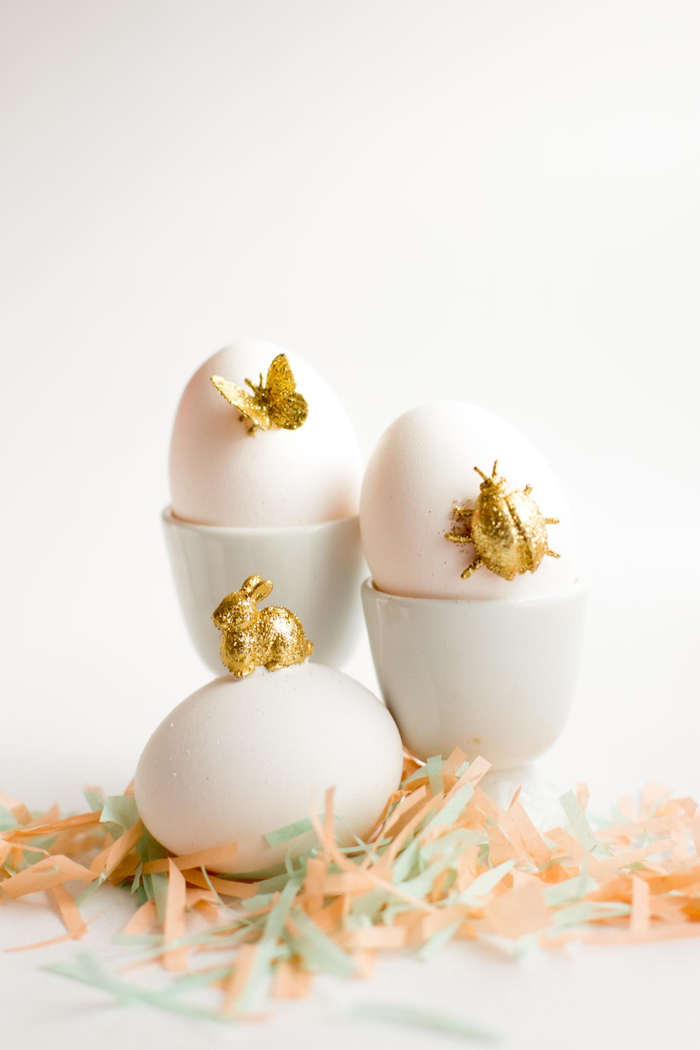 Gold Animal Easter Eggs Diy Flax Twine