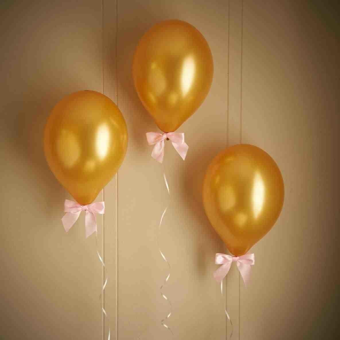 Gold Balloon Decorations Birthday Party
