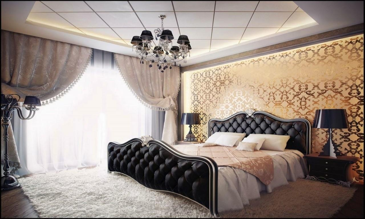 Gold Bedroom Decorating Ideas Black