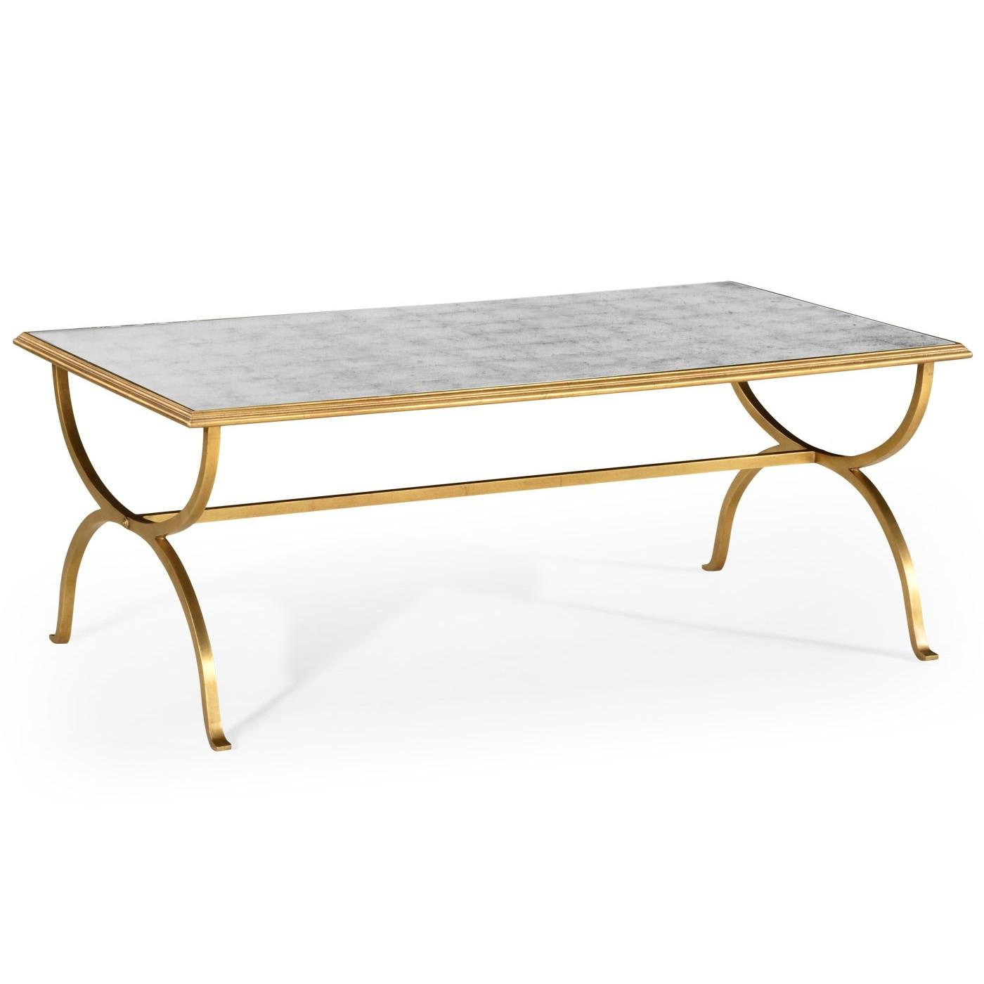 Gold French Glass Coffee Table Swanky Interiors
