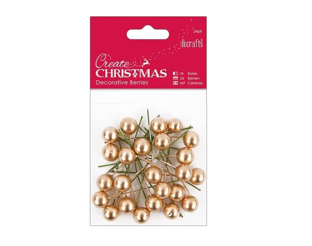 Gold Holly Berries Christmas Crafts