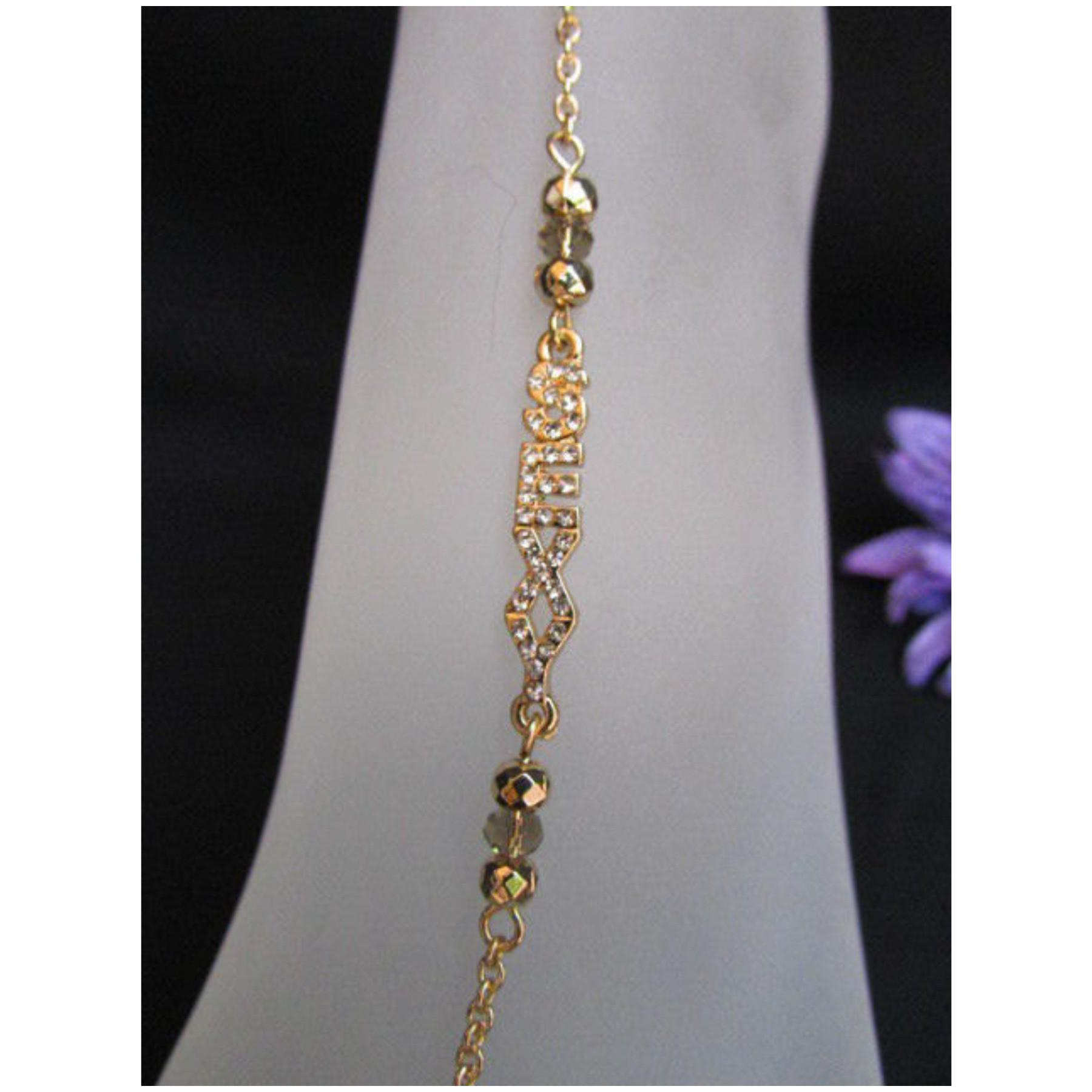Gold Metal Casual Trendy Fashion Anklet Foot Thin Chain