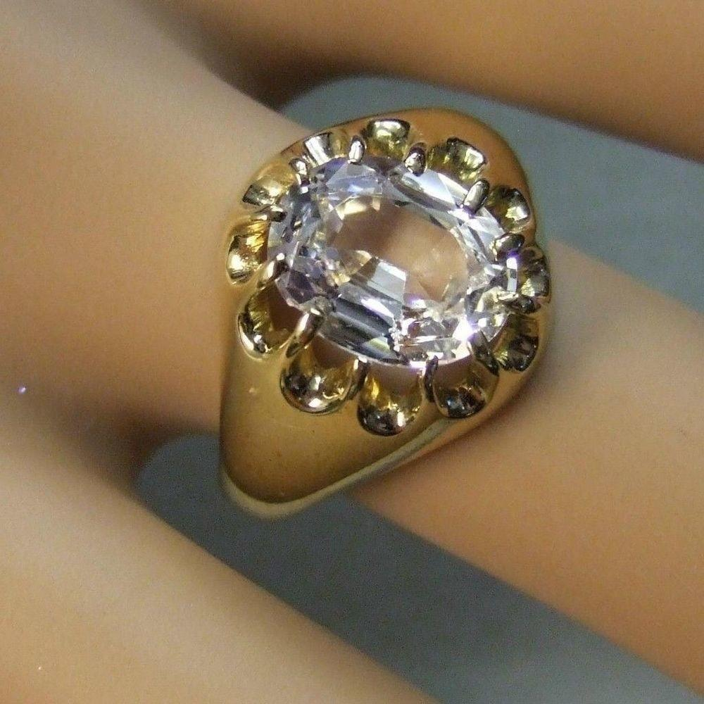 Gold Second Hand Gents Stone Ring