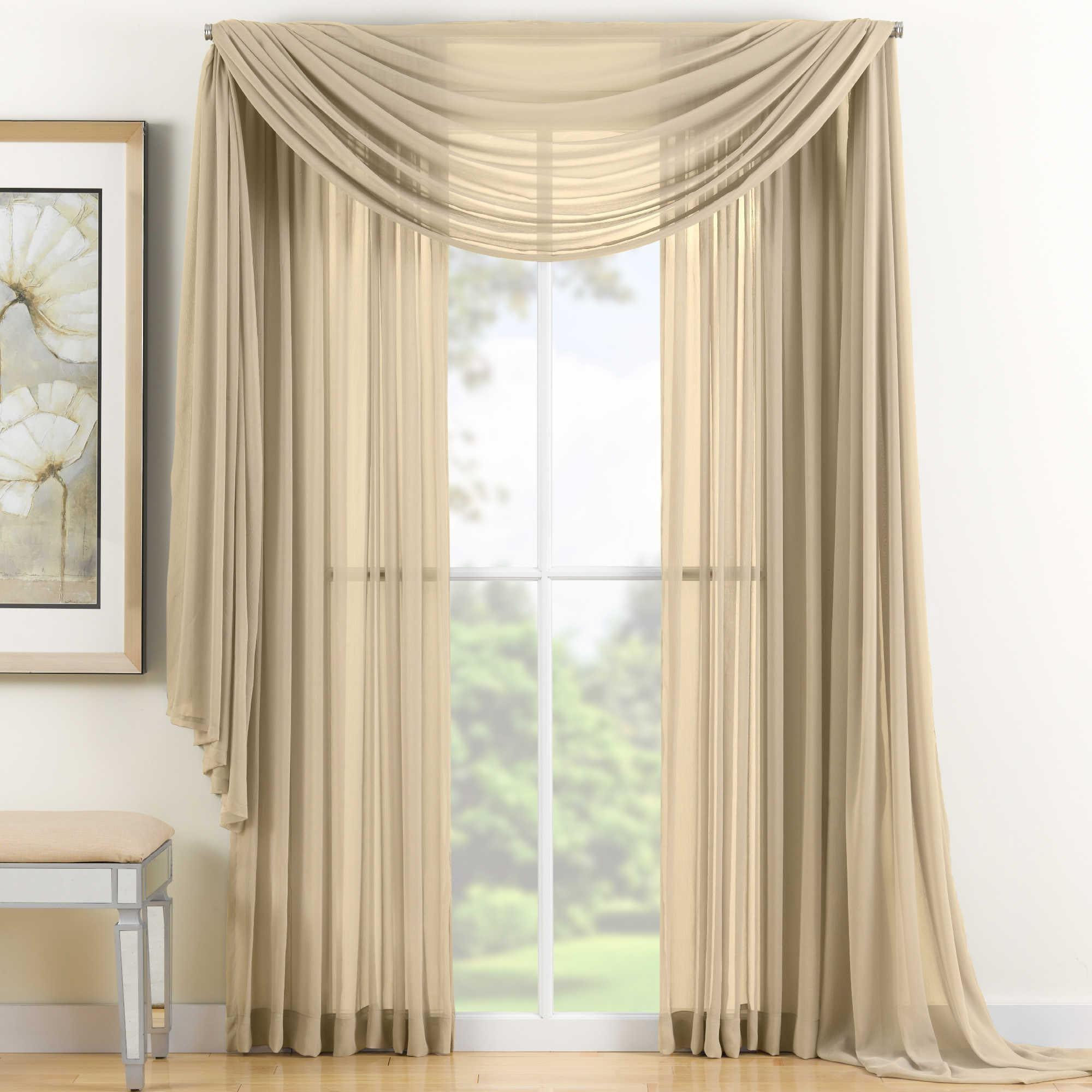 Gold Sheer Scarf Valance Window Treatments Design Ideas Decoratorist 127648
