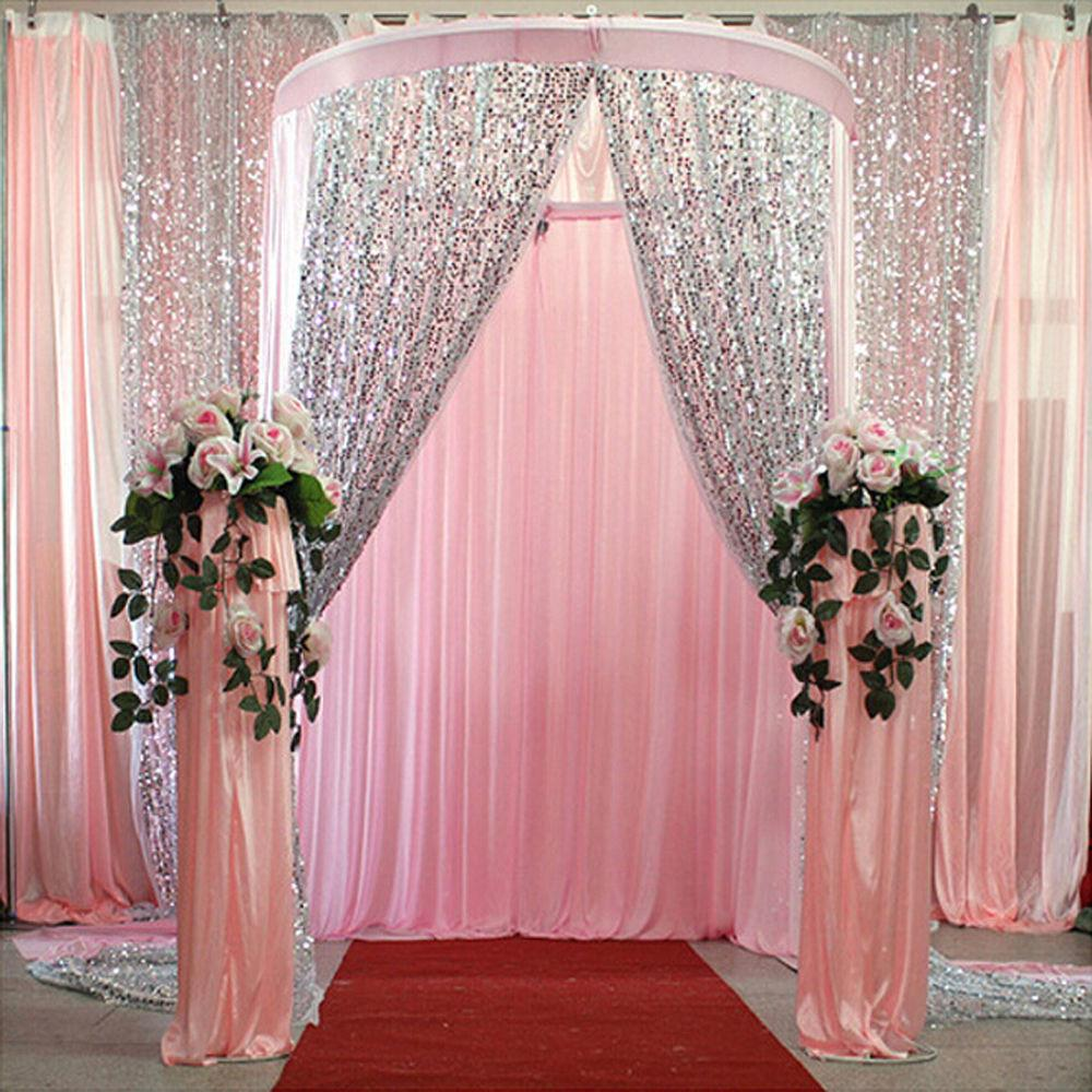 Gold Silver Sparkly Sequin Glamorou Tablecloth Backdrop