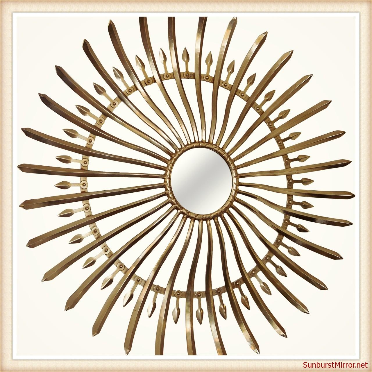 Gold Sunburst Mirrors Love Mirror