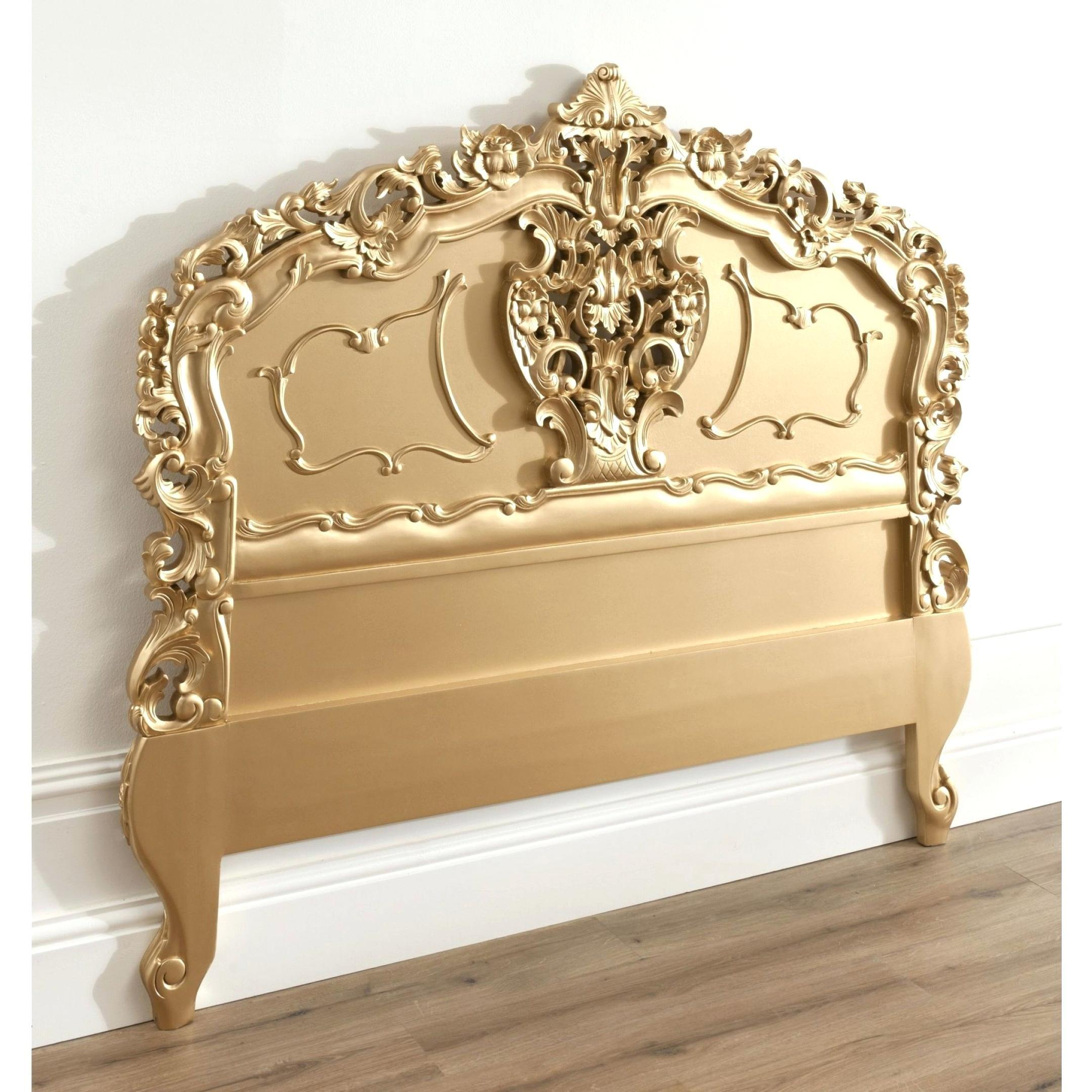 Gold Tufted Headboard Bed Drawer