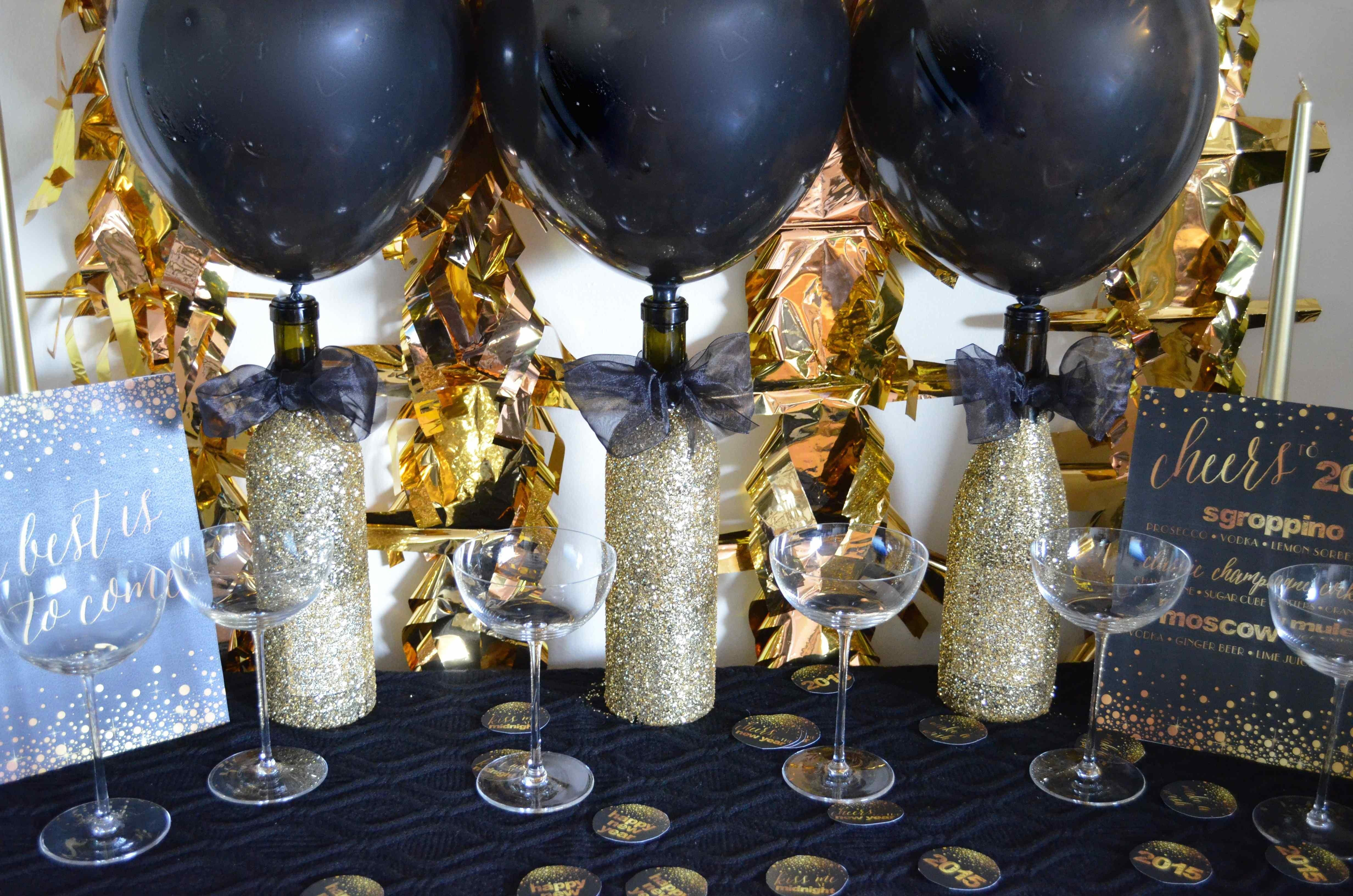 Golden Year New Years Eve 2015 Diy Decor Scratch