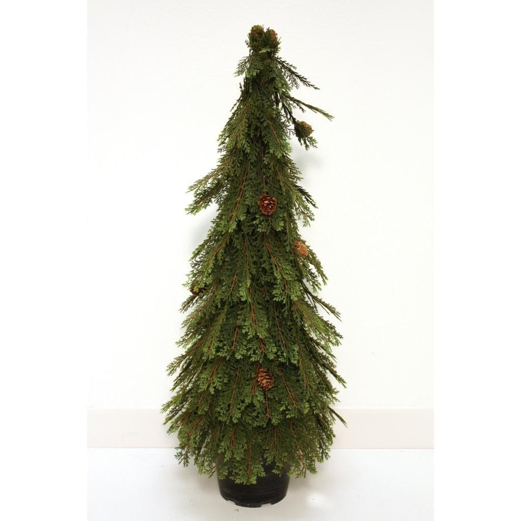 Good Tidings Topiary Cone Shaped Cedar Christmas Tree