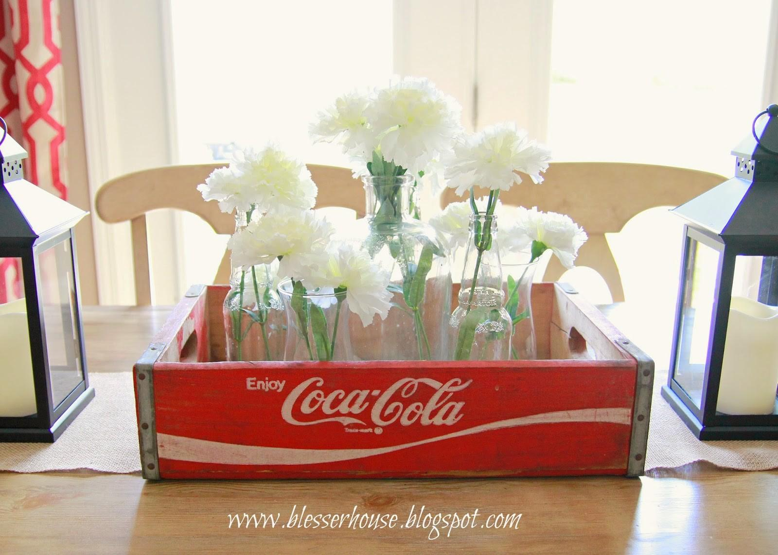 Goodwill Find Vintage Coca Cola Crate Centerpiece Bless