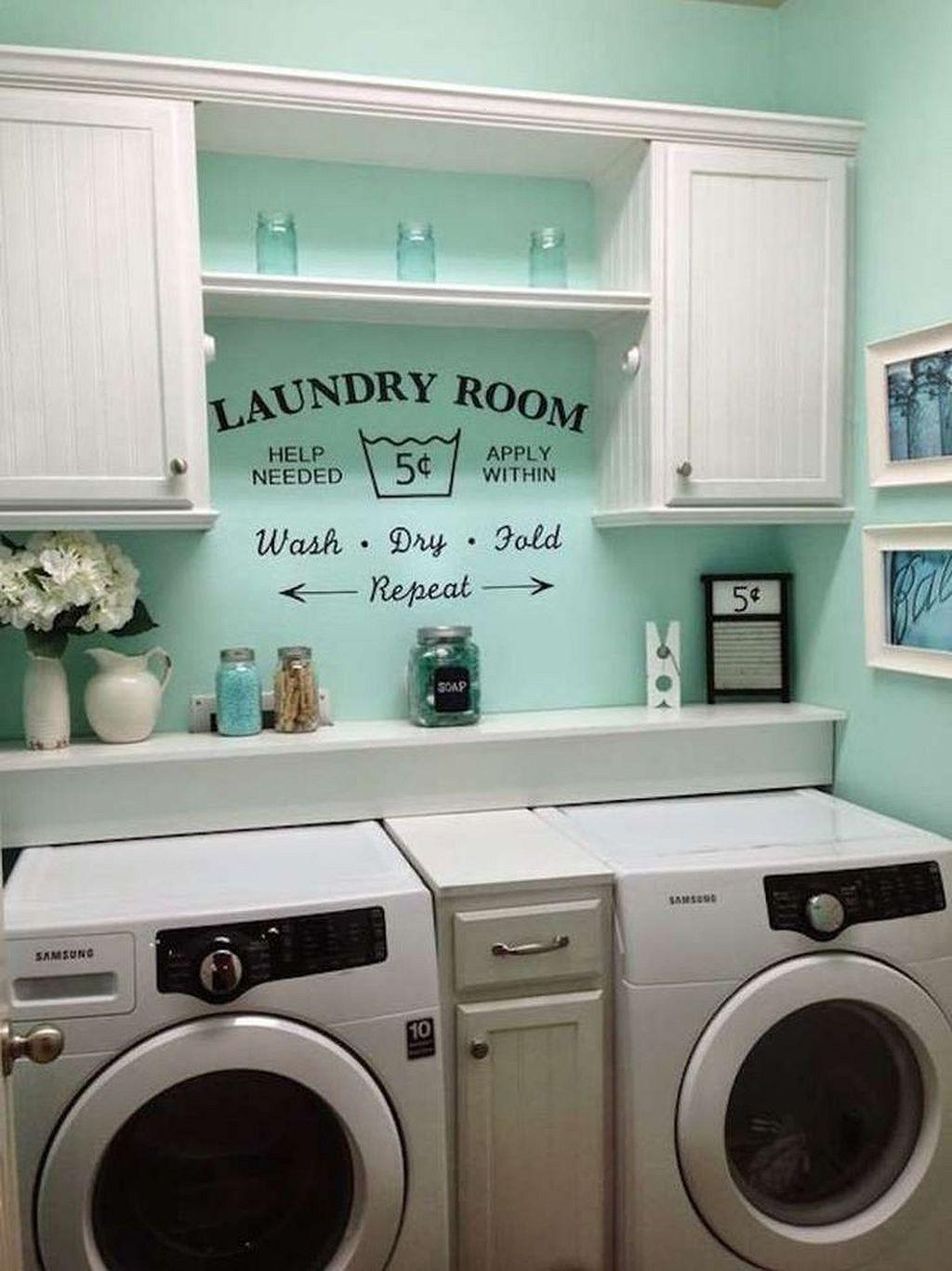 Gorgeous 146 Small Laundry Room Organization Ideas