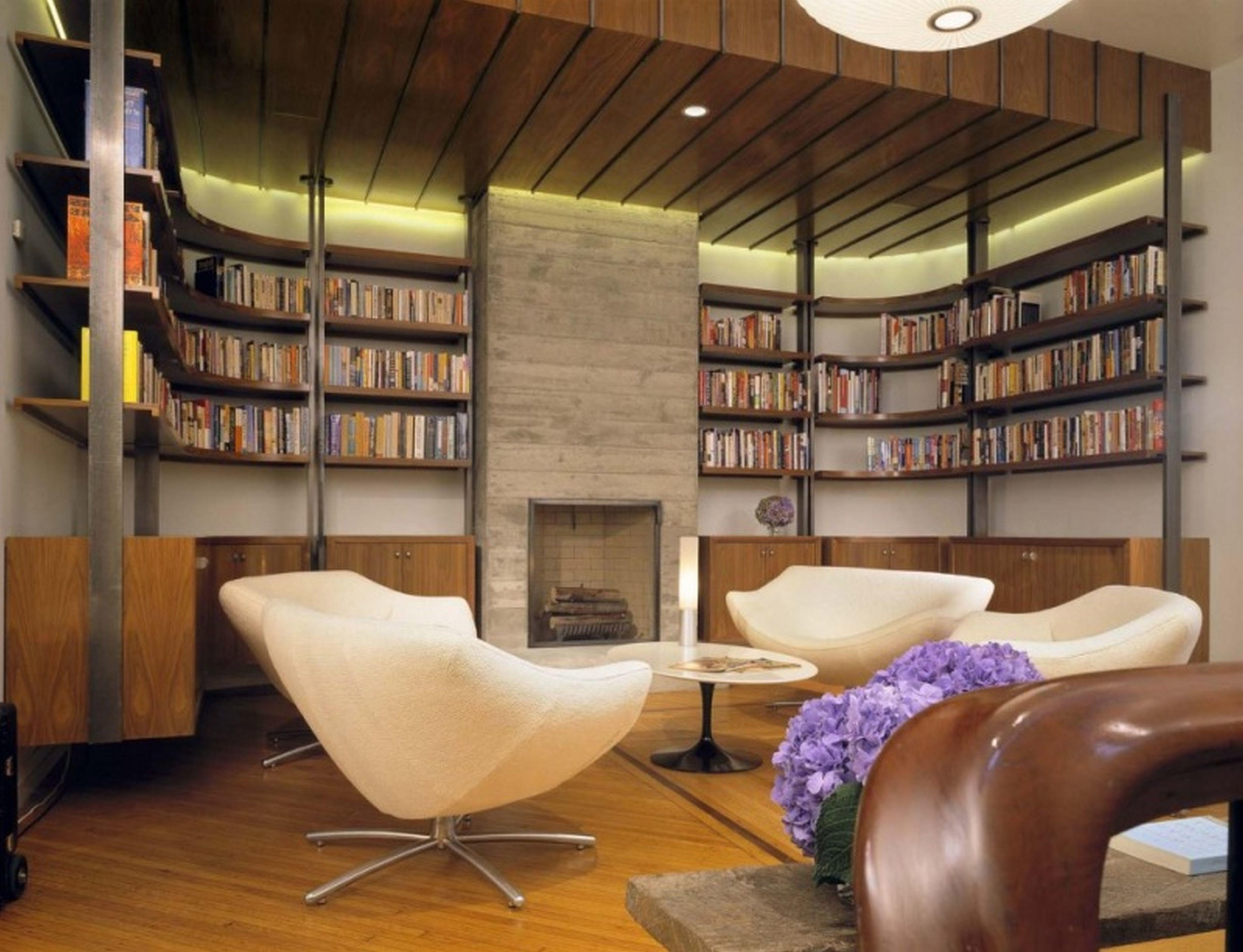 Gorgeous Amazing Home Library Designs Beautiful Lovely