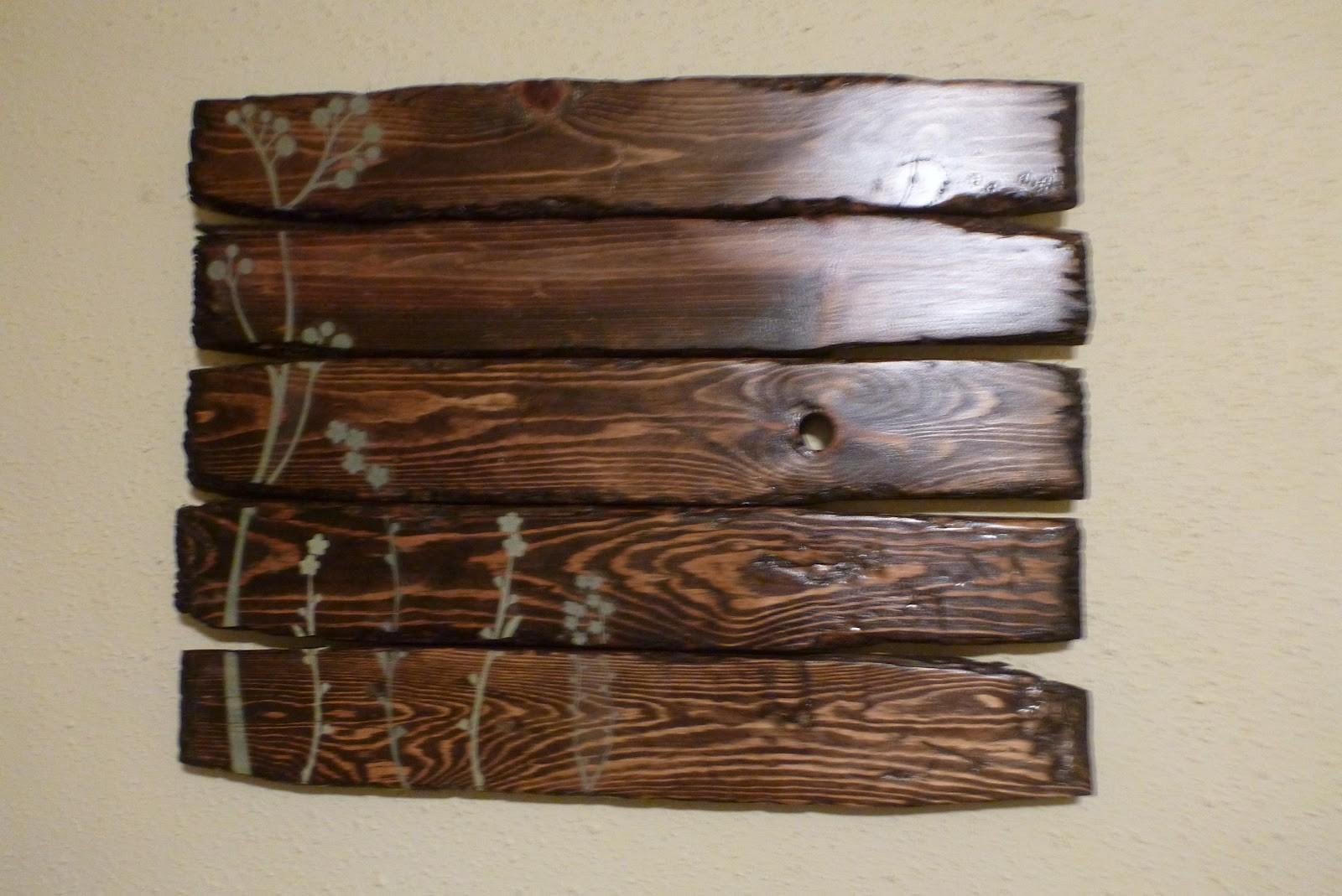 Gorgeous Reclaimed Wood Art Which Created Using Glossy