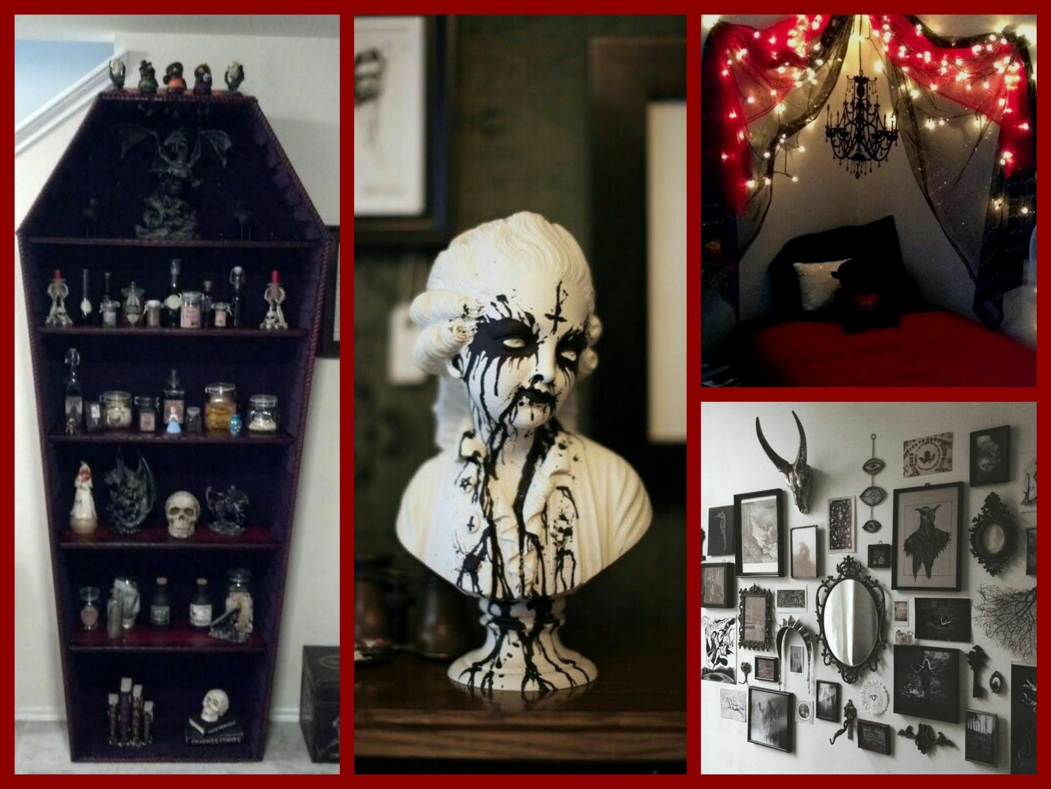 Gothic Halloween Decor Ideas Goth Room Inspiration