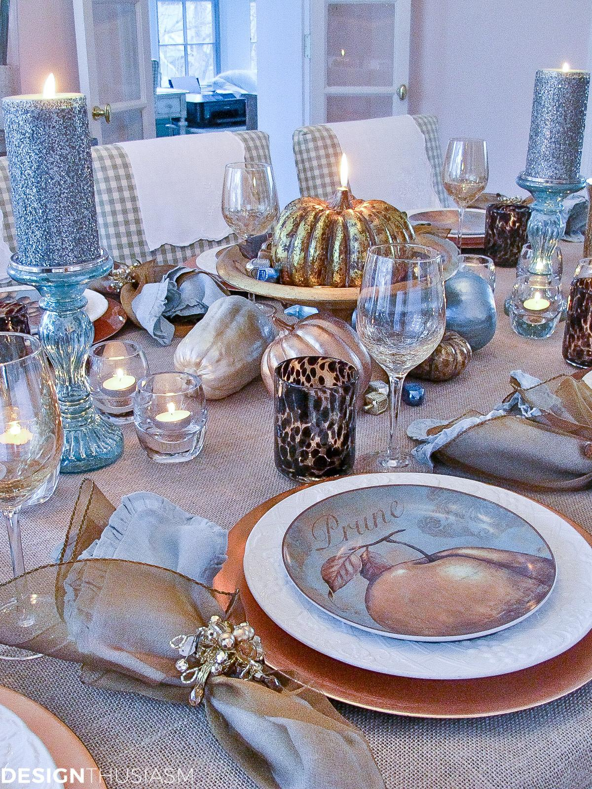 Gourd Crafts Elegant Inexpensive Thanksgiving Table