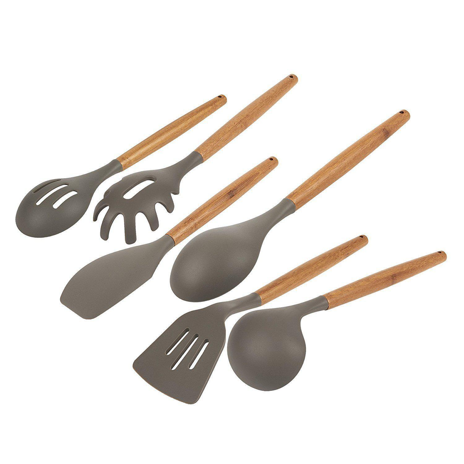 Gourmet Non Stick Silicone Cooking Tools Bamboo
