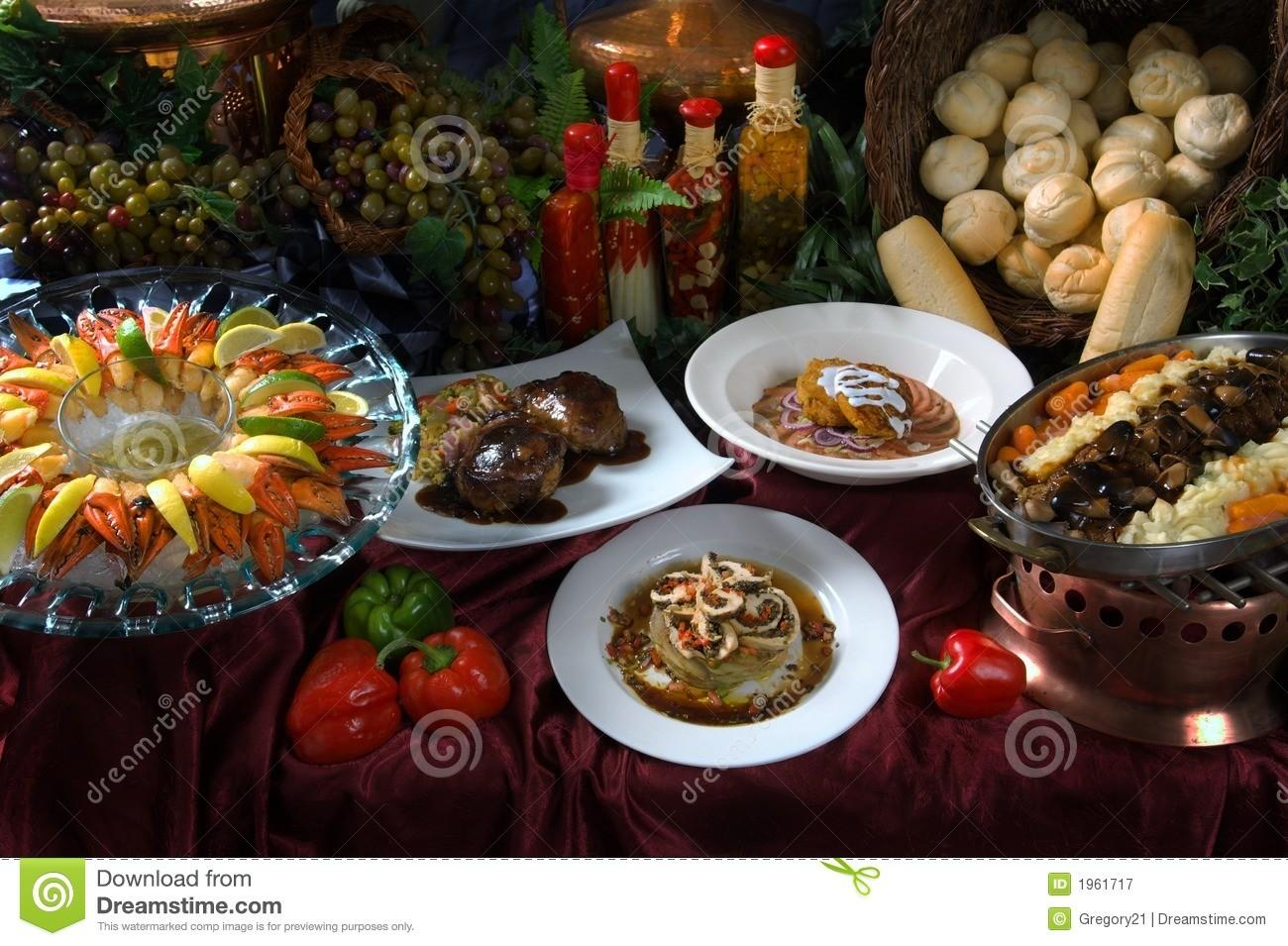 Gourmet Table Setting Royalty Stock Photography