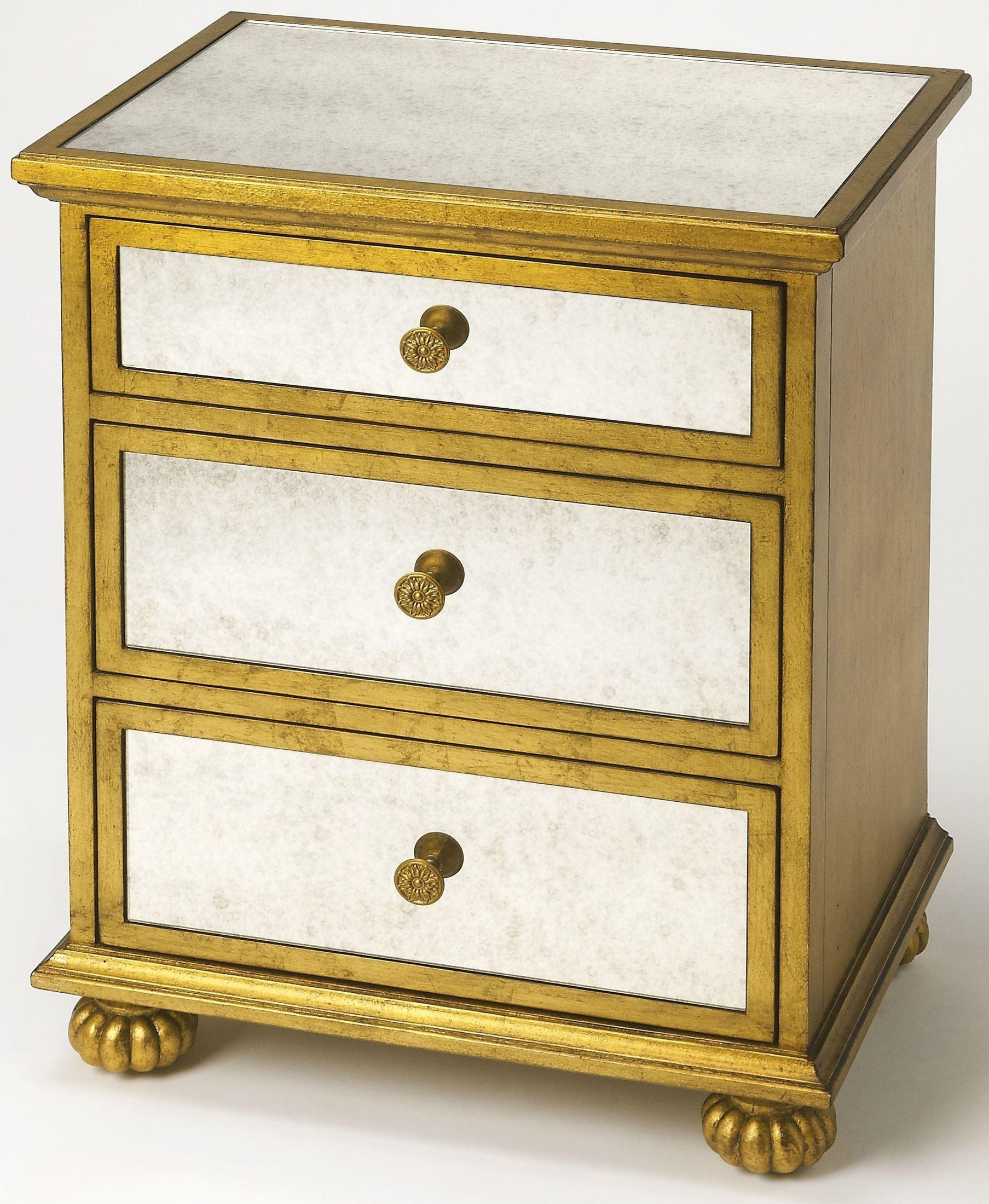 Grable Gold Leaf Accent Chest Butler Coleman Furniture