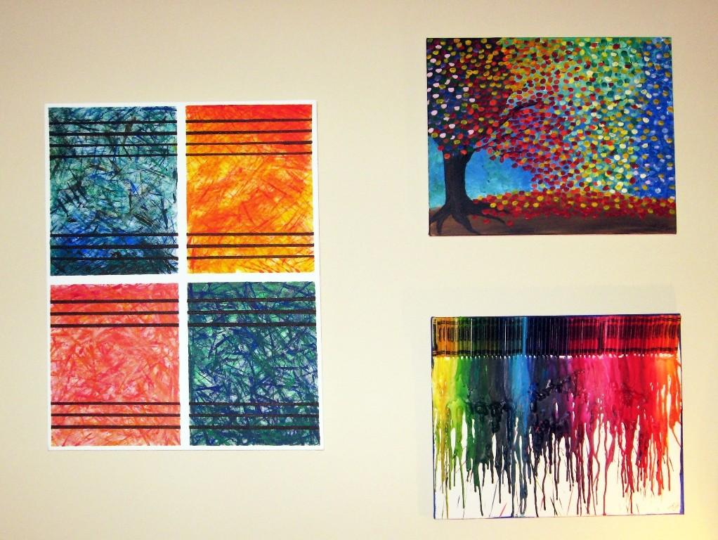 Graceful Wall Decor Luring Painting Trees Also