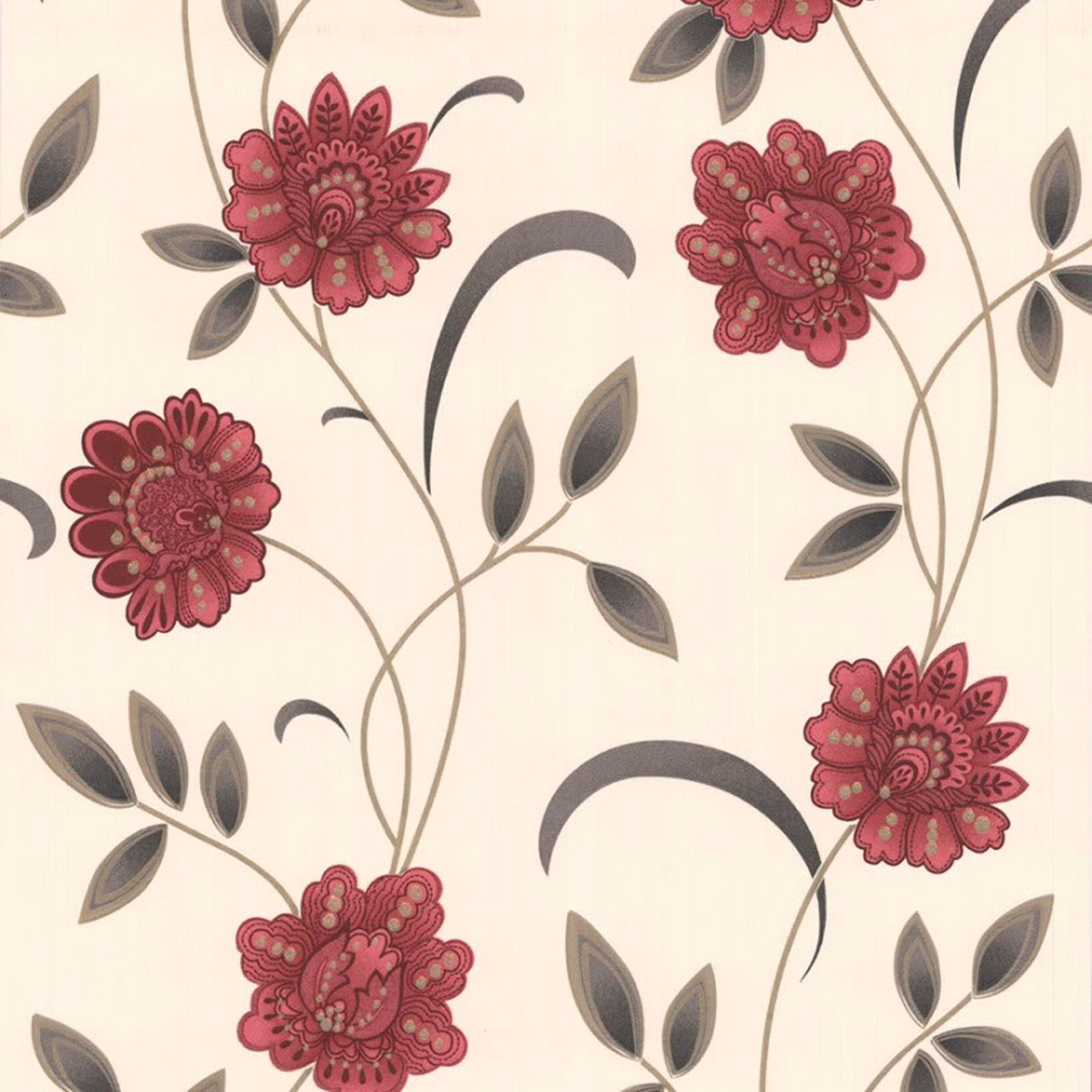 Graham Brown Sadie Red Cream Floral