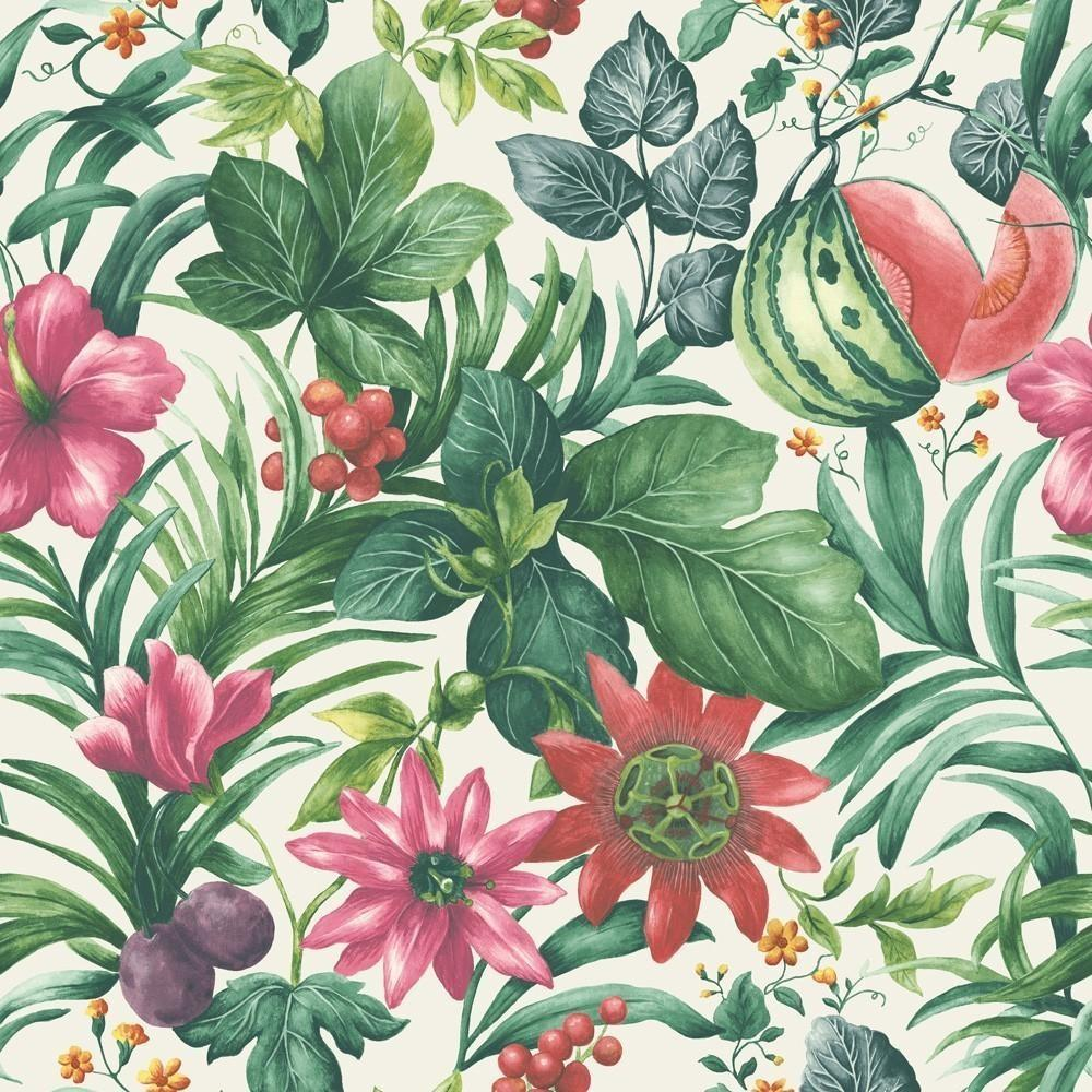 Grandeco Botanical Fruit Flower Pattern Tropical