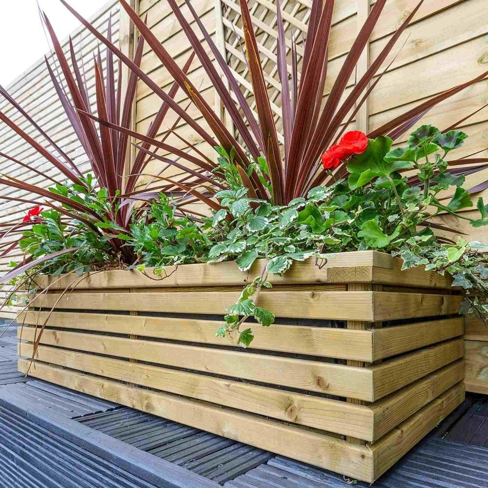 Grange Contemporary Rectangular Planter Garden Street