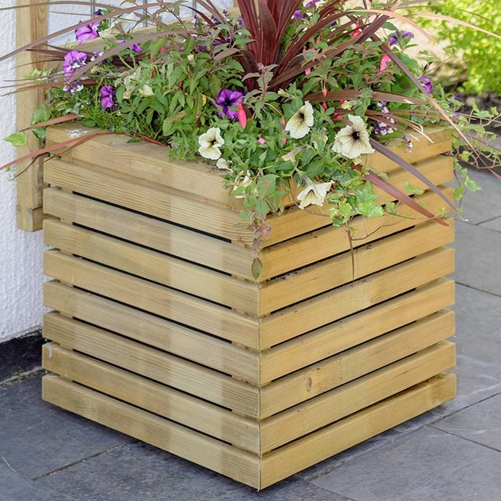 Grange Contemporary Square Planter Garden Street