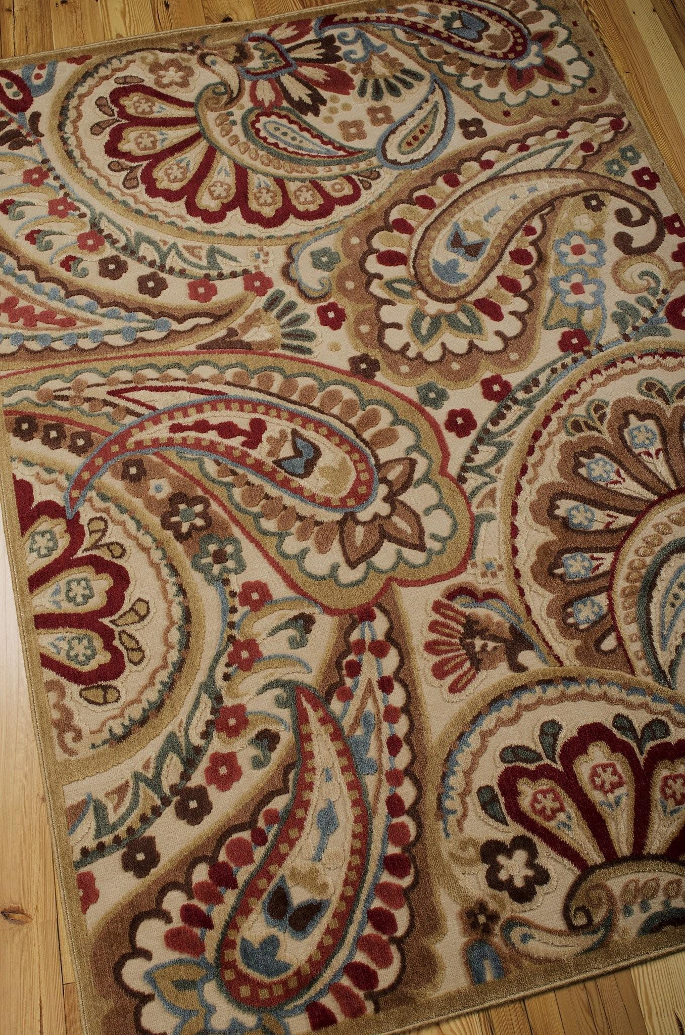 Graphic Illusions Collection Area Rug Multi Paisley
