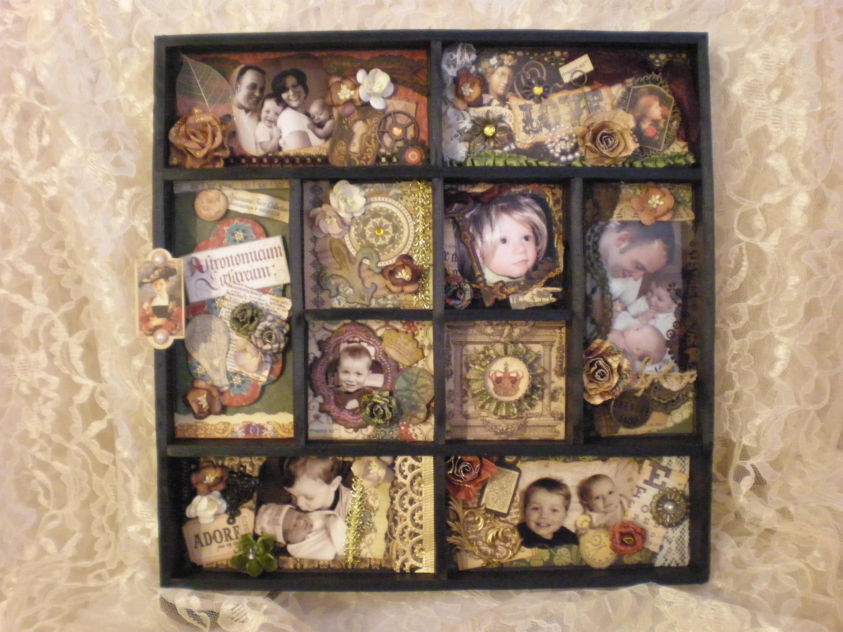 Graphic Renaissance Faire Altered Shadow Box Kate