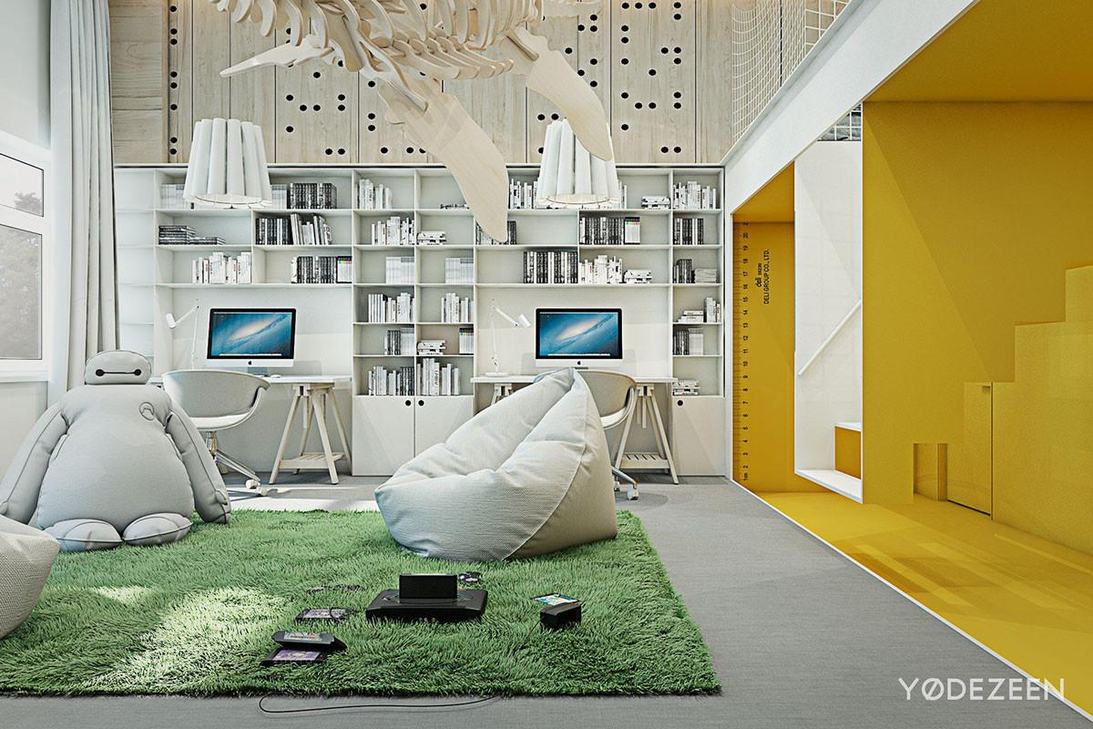 Grass Inspired Area Rug Interior Design Ideas